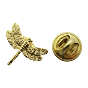 Dragonfly Mini Pin ~ 24K Gold ~ Miniature Lapel Pin ~ 24K Gold Miniature Lapel Pin ~ Sarah's Treats & Treasures