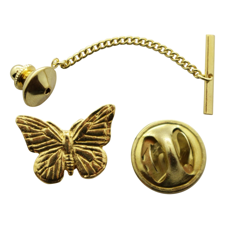 Monarch Butterfly Tie Tack ~ 24K Gold ~ Tie Tack or Pin ~ Sarah's Treats & Treasures