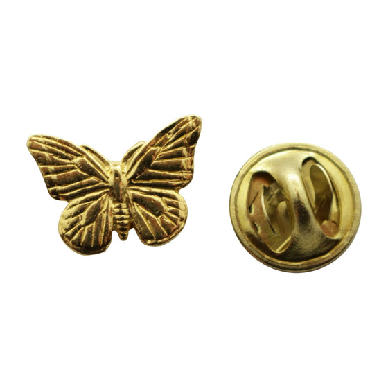 Monarch Butterfly Mini Pin ~ 24K Gold ~ Miniature Lapel Pin ~ 24K Gold Miniature Lapel Pin ~ Sarah's Treats & Treasures
