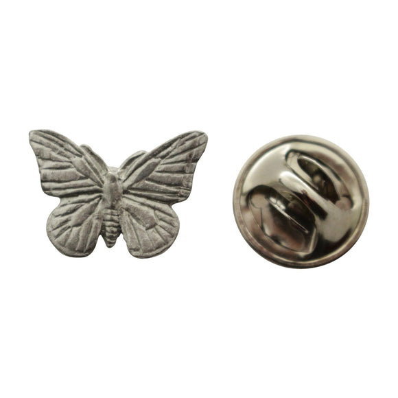 Monarch Butterfly Mini Pin ~ Antiqued Pewter ~ Miniature Lapel Pin ~ Sarah's Treats & Treasures