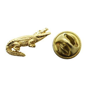Alligator Mini Pin ~ 24K Gold ~ Miniature Lapel Pin ~ Sarah's Treats & Treasures