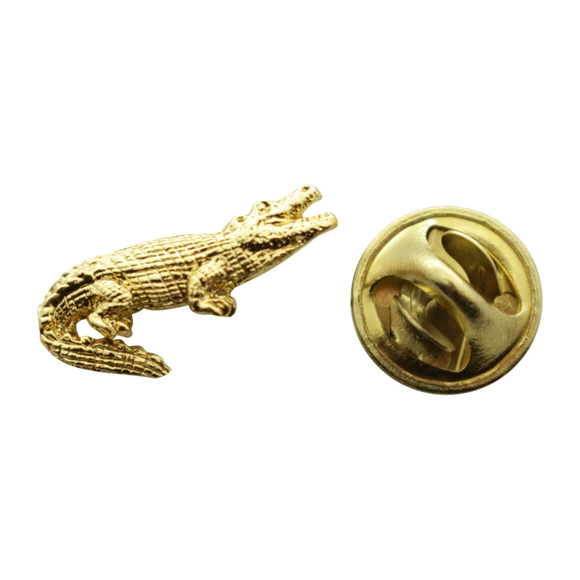 Alligator Mini Pin ~ 24K Gold ~ Miniature Lapel Pin ~ 24K Gold Miniature Lapel Pin ~ Sarah's Treats & Treasures