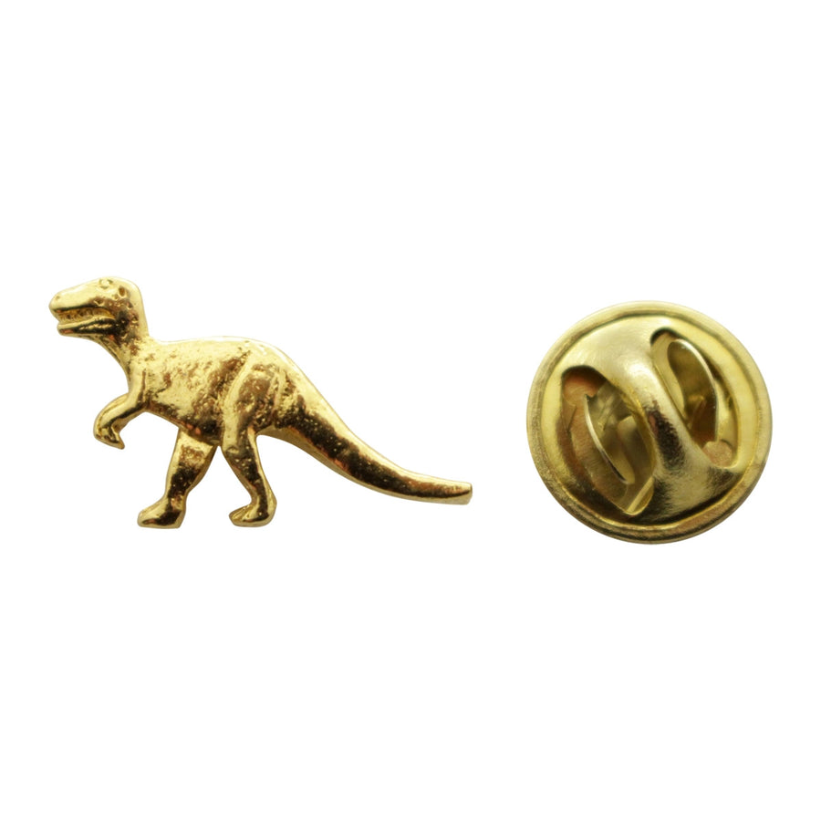T Rex or Tyrannosaurus Mini Pin ~ 24K Gold ~ Miniature Lapel Pin ~ 24K Gold Miniature Lapel Pin ~ Sarah's Treats & Treasures