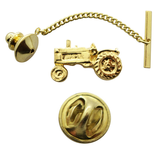 Tractor Tie Tack ~ 24K Gold ~ Tie Tack or Pin ~ Sarah's Treats & Treasures