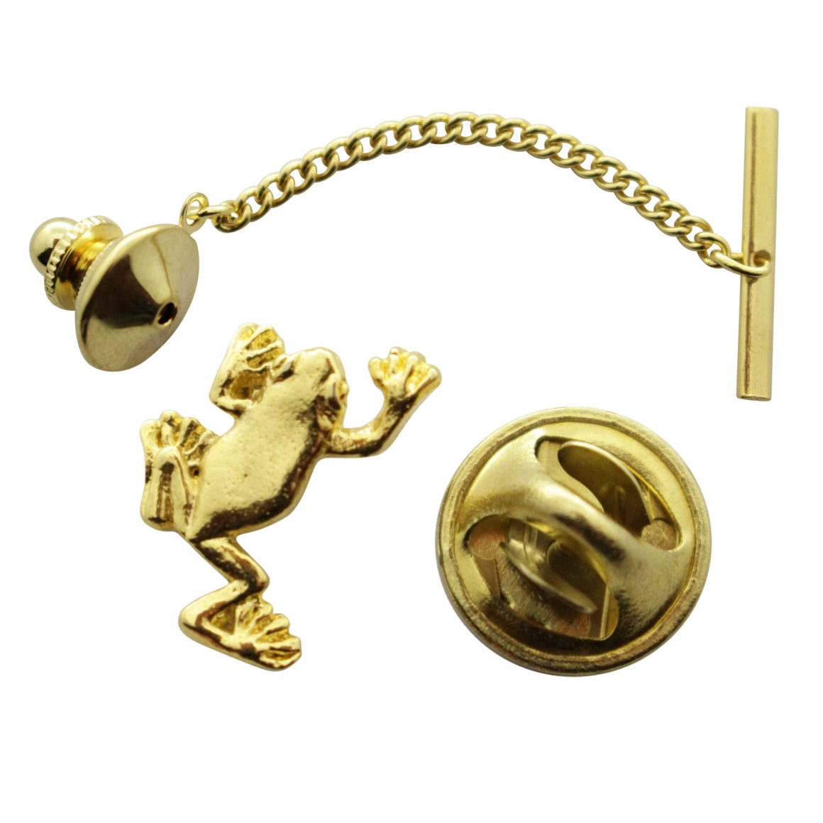 Tree Frog Tie Tack ~ 24K Gold ~ Tie Tack or Pin ~ 24K Gold Tie Tack or Pin ~ Sarah's Treats & Treasures