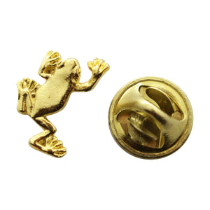 Tree Frog Mini Pin ~ 24K Gold ~ Miniature Lapel Pin ~ Sarah's Treats & Treasures