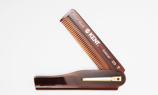 KENT - Men's Pocket Folding Comb 100mm