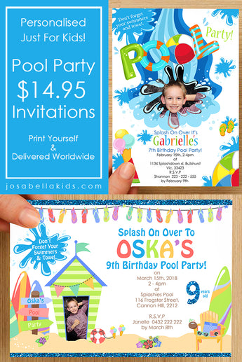NEW  Pool Party Invitations!
