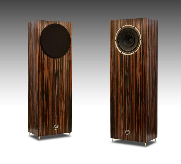 JUNIOR 8XRS shown in Quartered Macassar Ebony