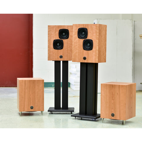 Super 3i High Output Monitors w/ Matching Dual Subwoofers in Figured Curly Cherry