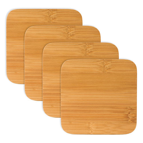 Stack Set of 4 Bamboo Coasters by True