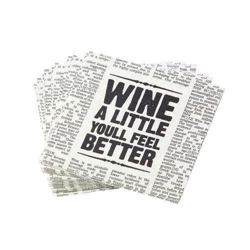 Newspaper Cocktail Napkins