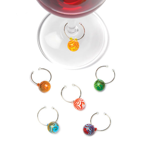 Swirl Glass Wine Charms by True