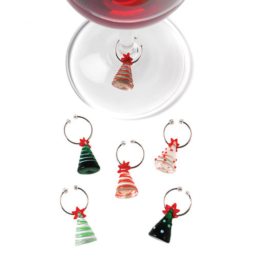Tannenbaum Holiday Tree Wine Charms by True