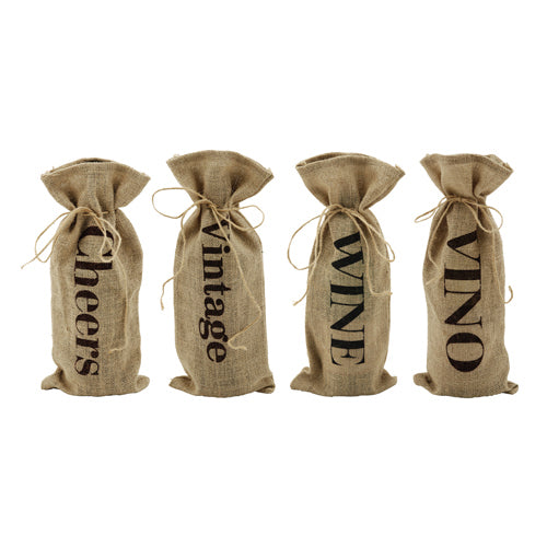 Marketplace: Assorted Jute Message Bottle Sacks