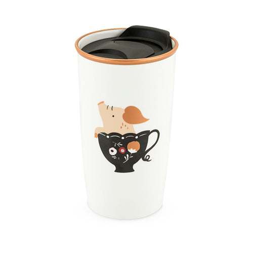 Bryce™: Teacup Pig Ceramic Travel Mug