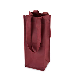 1 Bottle Non Woven Tote In Burgundy by True