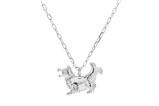 Hyena Necklace - Silver