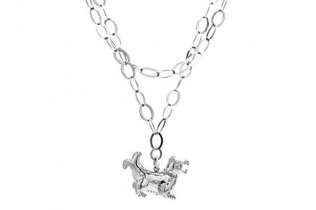 Hyena Dainty Necklace - Silver