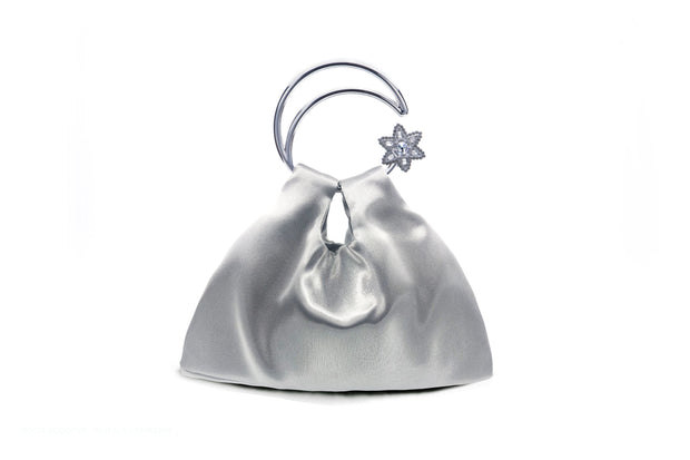 Moon Scooper Moonlight Satin bag - Silver