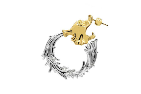 Roider single earring - Gold/Silver