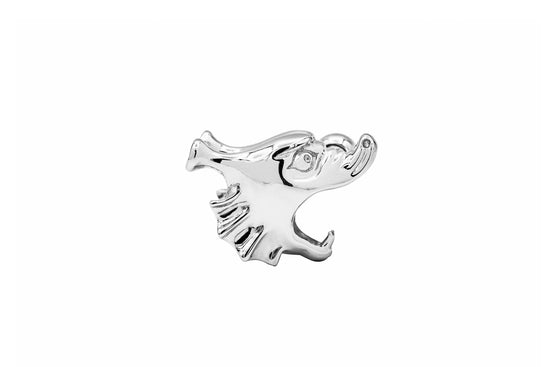 Roider H Single Stud - Silver