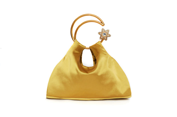 Moon Scooper heavy satin bag - Golden