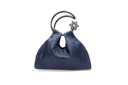 Moon Scooper lambskin bag - Smoke blue