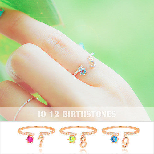IO Ring (birthstone number ring) - Wingbling Global