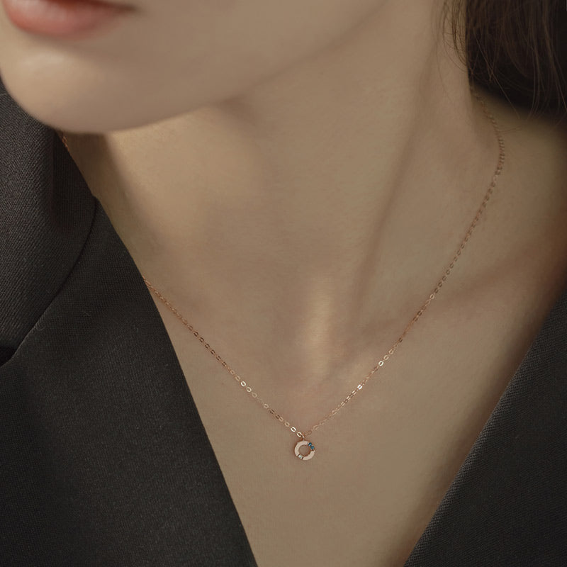 [14K Gold] A'bel Natural Diamond Necklace