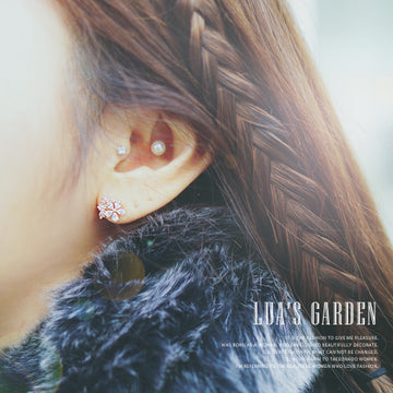 LUA'S GARDEN Earring (silver pin) - Wingbling Global
