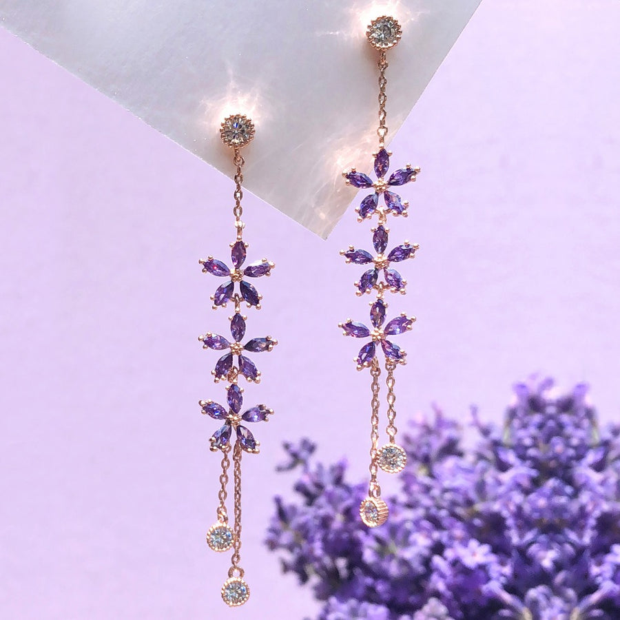 LAVENDER BLOOM Earring (silver post)