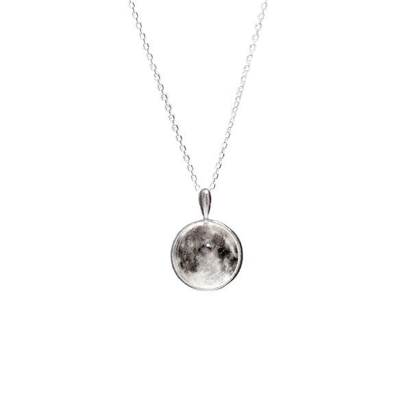 WHITE MOON Necklace (glow in the dark)