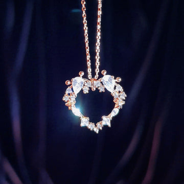 EL, FAIRY OF LOVE Necklace (heart crystal) - Wingbling Global