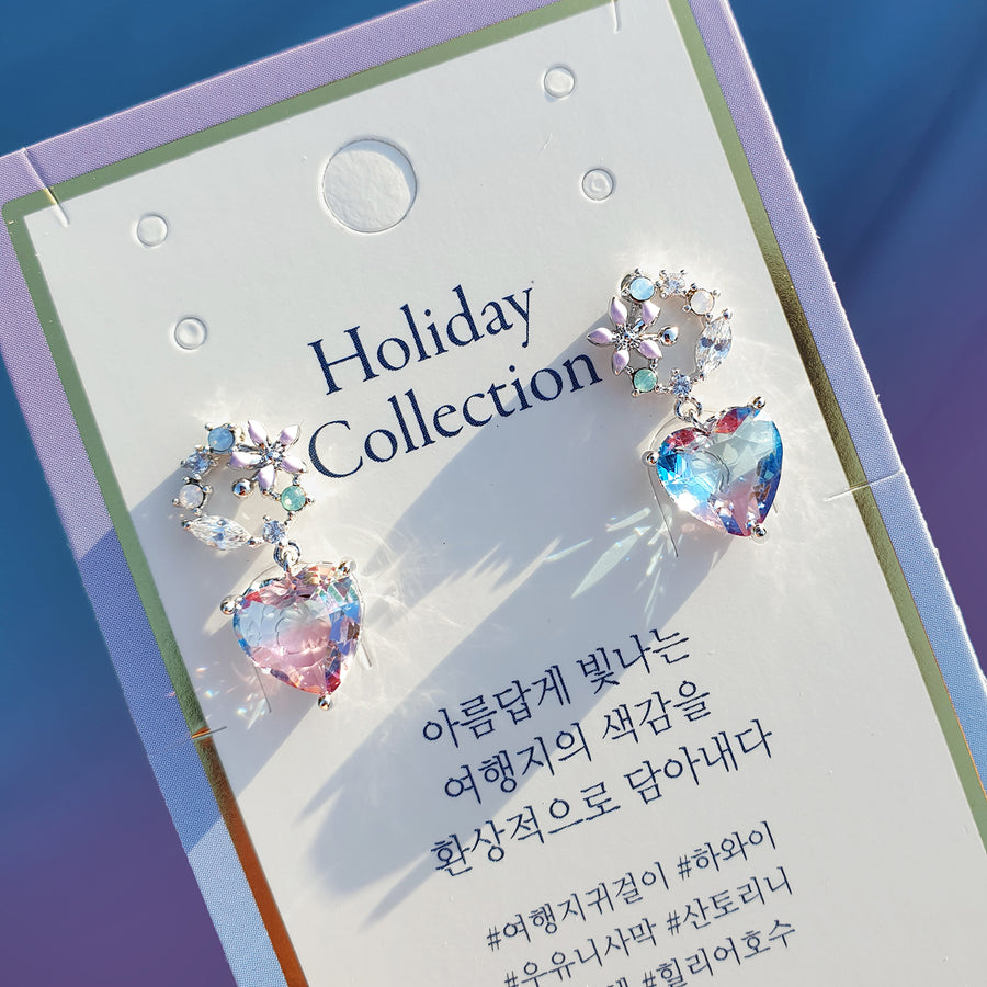 HOLIDAY LOVE Earring (silver post) - Wingbling Global