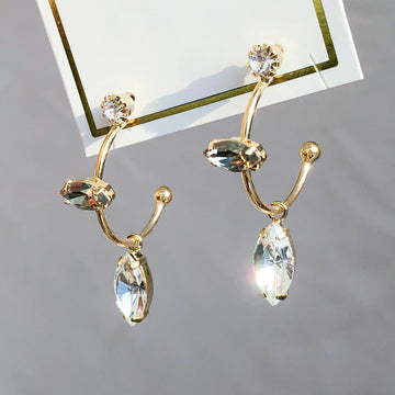 LAYLA Earring (silver post, ring type, swarovski) - Wingbling Global