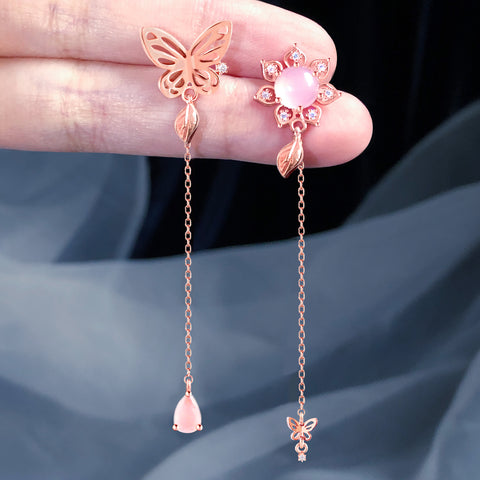 AGAPE Earring (rose quartz) - Wingbling Global