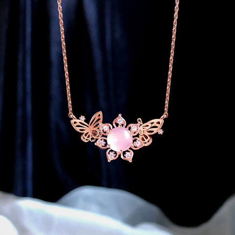 AGAPE Necklace (rose quartz) - Wingbling Global