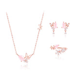 ROSEQUARTZ OF LOVE Set (Limited Edition, MUSE jewelry 2pcs 1 set, gift) - Wingbling Global