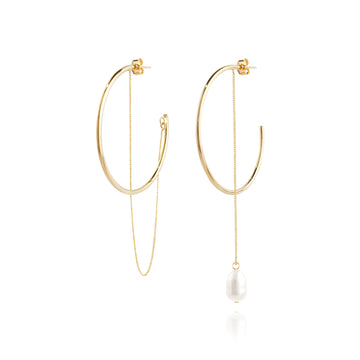 MARIANNE Earring (pearl, ring earring) - Wingbling Global