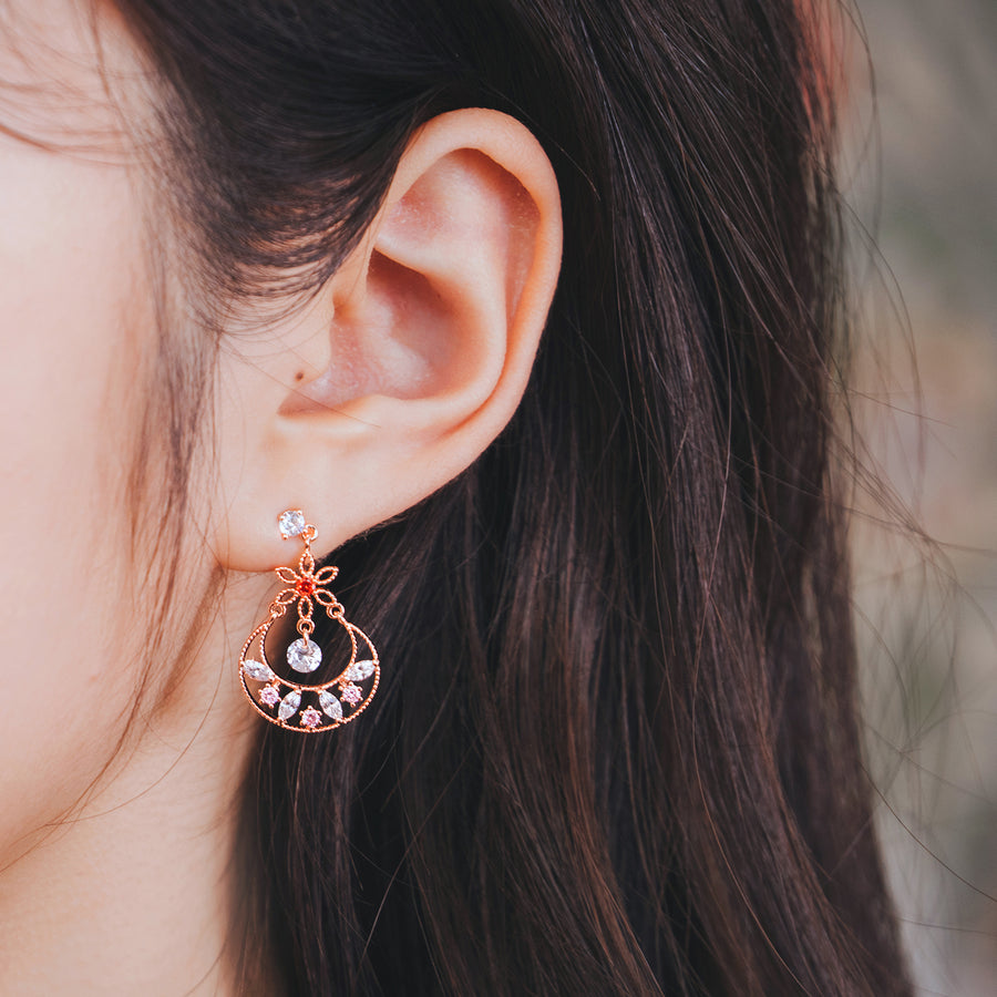 SCENT OF SPRING Earring (silver post) - Wingbling Global