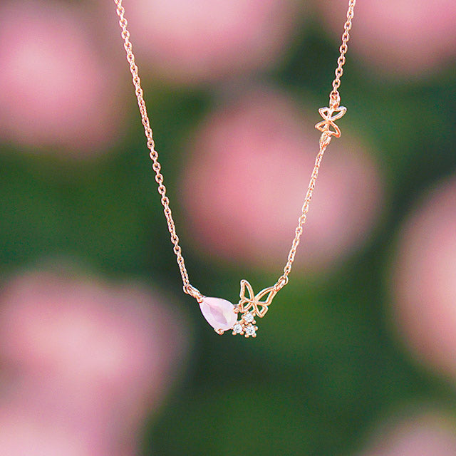 MUSE Necklace (rose quartz) - Wingbling Global