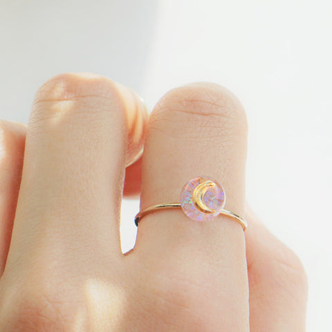 LADY MOON Ring (handmade) - Wingbling Global