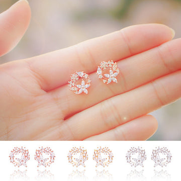 DELLA Earring (silver pin) - Wingbling Global
