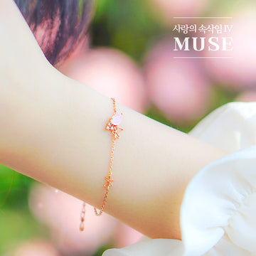MUSE Bracelet (rose quartz) - Wingbling Global