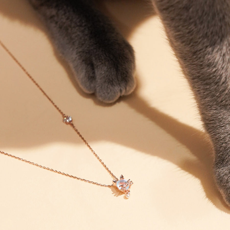 Lovely Cat Two Pin Necklace