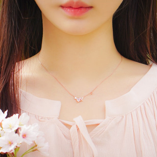 ANN Necklace (rose quartz) - Wingbling Global