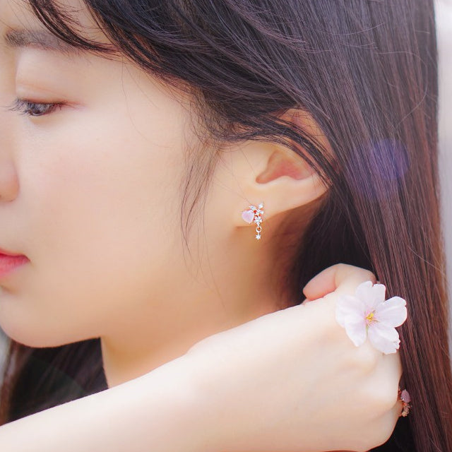 ANN Earring (rose quartz) - Wingbling Global