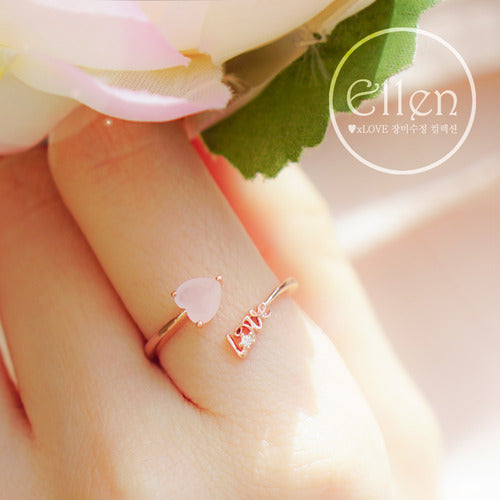 ELLEN Ring (rose quartz) - Wingbling Global