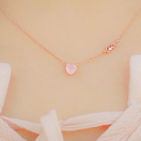 ELLEN Necklace (rose quartz) - Wingbling Global